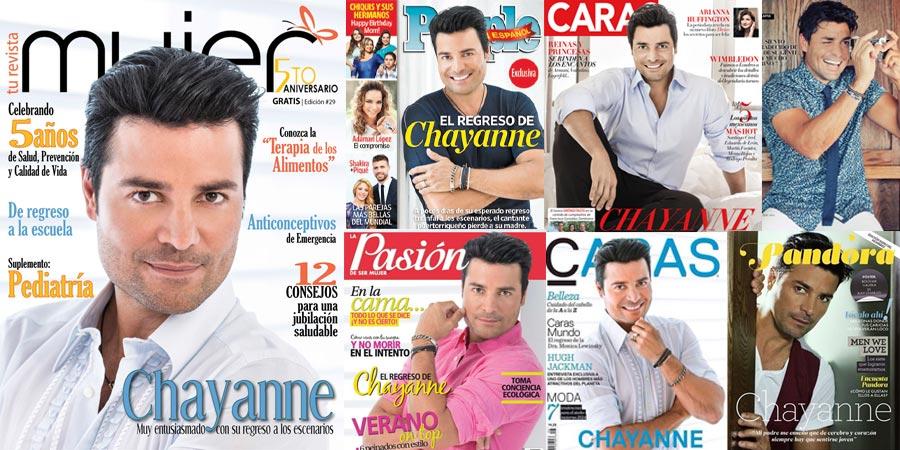 Chayanne en la Portada de Revistas Importantes